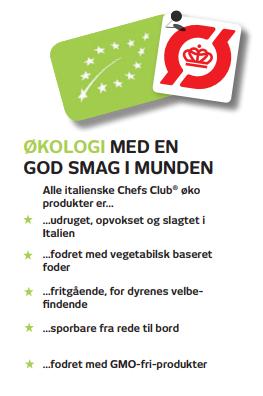 Øko produkter fra chefs club Euro Poultry