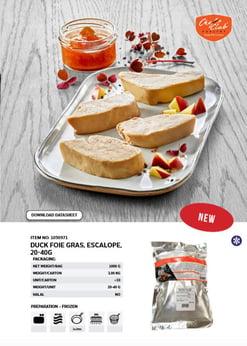 Foie Gras escalope Chefs Club foie gras i skiver - Euro Poultry