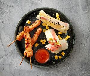 Mango sweet chili chicken skewer-1